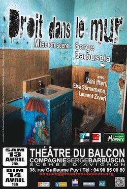 affiche théâtre du Balcon