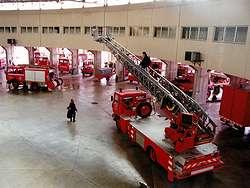 les sapeurs-pompiers d'Avignon